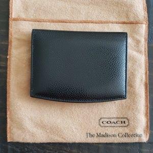Coach business card case